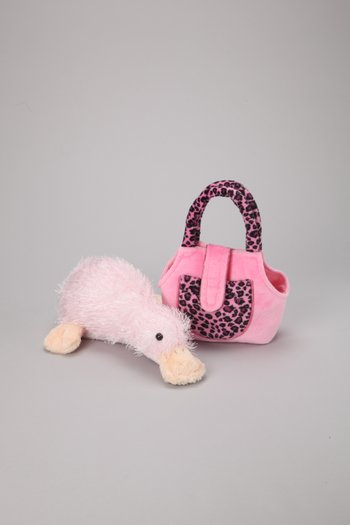 Pink Googles Plush Toy & Carrier