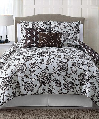 Chocolate Jordin Comforter Set