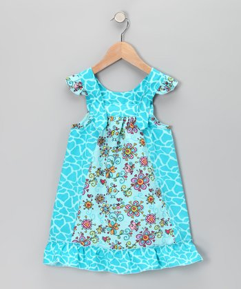 Blue Janea's World Mimi Dress - Toddler & Girls