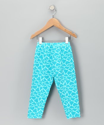 Blue Giraffe Leggings - Toddler & Girls