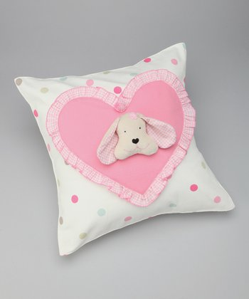 Pink Fido Puppy Puppet Pillow