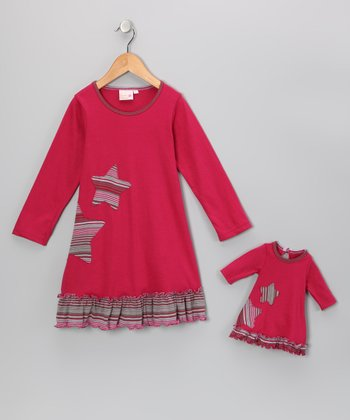 Fuchsia Sophia Dress & Doll Outfit - Girls