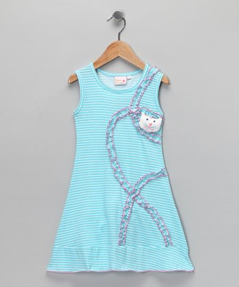 Blue & Pink Pinstripe Sally Dress - Toddler