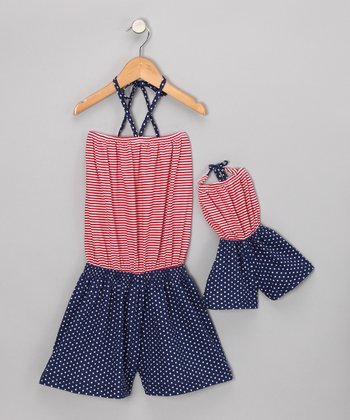 Red Romper & Doll Outfit