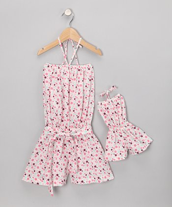 Pink Romper & Doll Outfit - Toddler & Girls