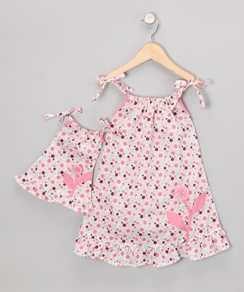 Pink Stella Dress & Doll Outfit - Girls