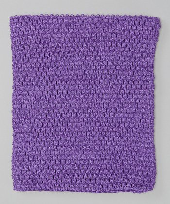 Purple Crocheted Tube Top