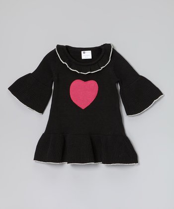 Black Charlotte Sweater Dress - Infant, Toddler & Girls