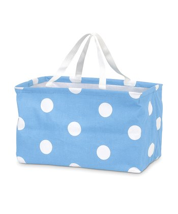 Light Blue Polka Dot Crunch Bag