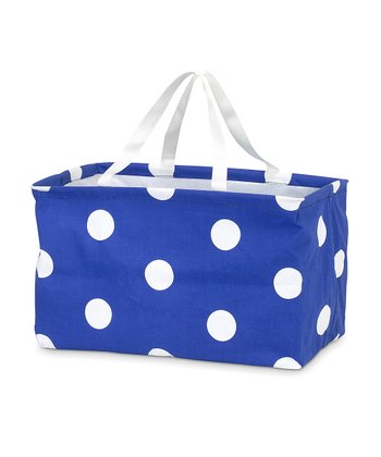 Dark Blue Polka Dot Crunch Bag