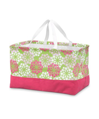 Pink & Green Floral Crunch Shopper
