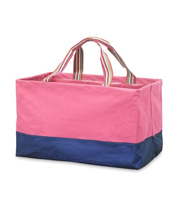Pink & Blue Rectangle Crunch Shopper