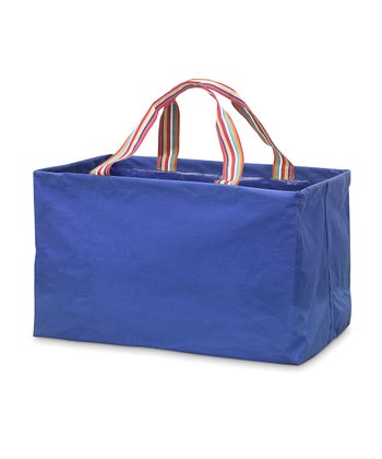 Navy Blue Chesapeake Rectangle Crunch Shopper