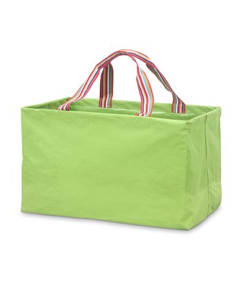 Green Chesapeake Rectangle Crunch Shopper