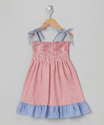 Red Gingham Ruffle Dress - Toddler & Girls