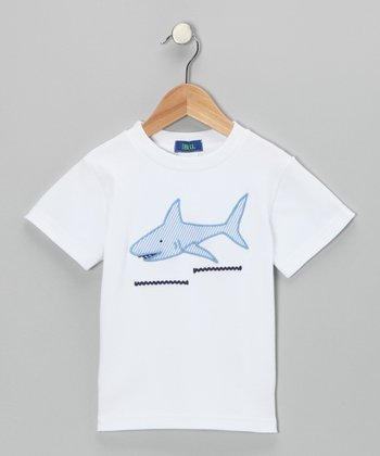 White Shark Appliqué Tee - Toddler & Boys