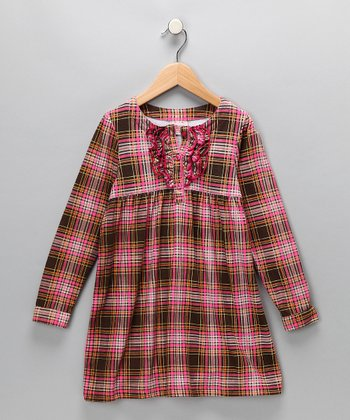 Pink Plaid Dress - Toddler