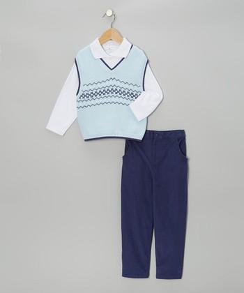 Navy Corduroy Pants Set - Infant & Toddler