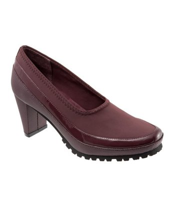 Dark Red Mendi Pump
