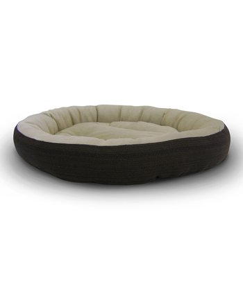 Brown Round Cuddler Pet Bed