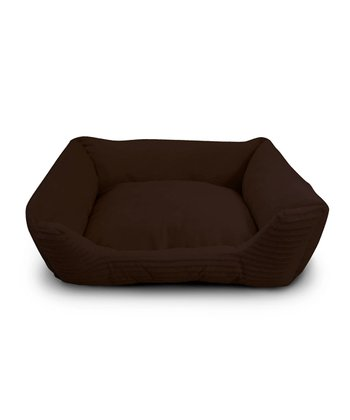 Brown Corduroy Cuddler Pet Bed