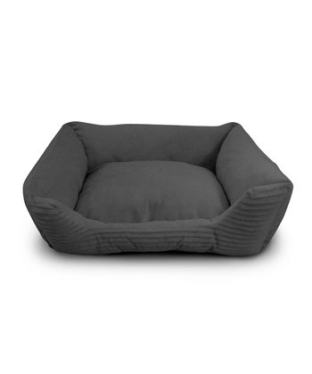 Gray Corduroy Cuddler Pet Bed