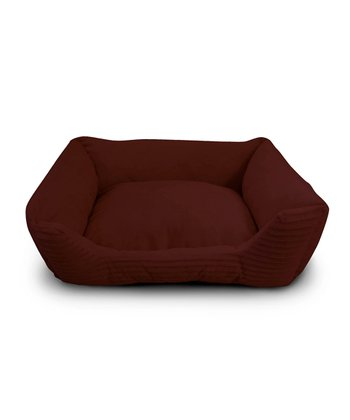 Red Corduroy Cuddler Pet Bed