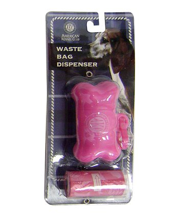 Pink Bone Waste Bag Dispenser Set