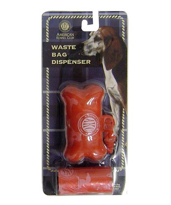 Red Bone Waste Bag Dispenser Set