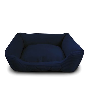 Navy Corduroy Cuddler Pet Bed