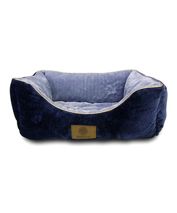 Navy Fur Cuddler Pet Bed
