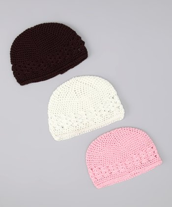 Neapolitan Ice Cream Beanie Set