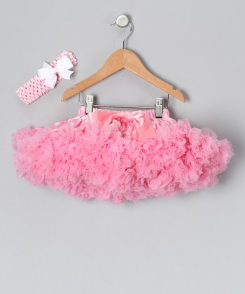 Light Pink Polka Dot Pettiskirt Set - Infant