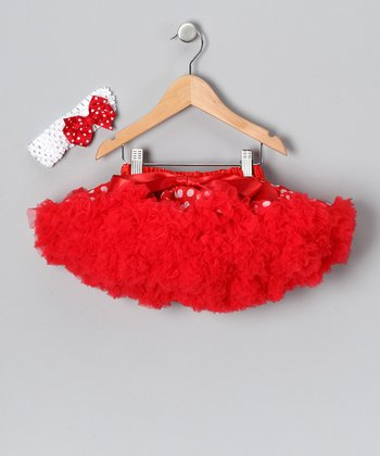 Red Polka Dot Pettiskirt Set - Toddler