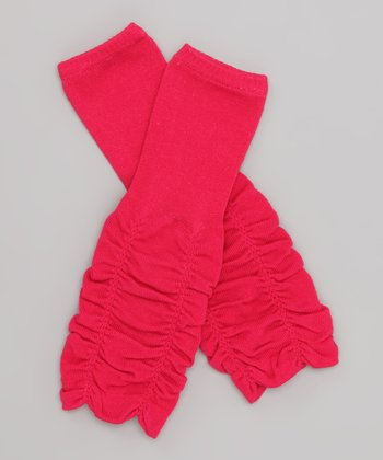 Hot Pink Ruched Leg Warmers