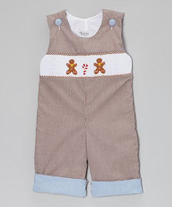 Brown Roll Up Gingerbread Playsuit - Infant & Toddler