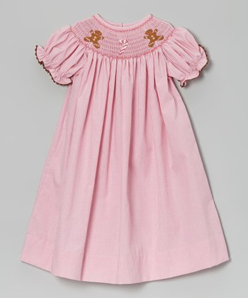 Pink Gingham Gingerbread Bishop Dress - Infant, Toddler & Girls