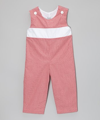 Red Gingham Playsuit - Infant & Toddler