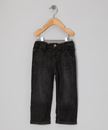 Black Blast Relaxed Straight-Leg Jeans - Infant & Toddler