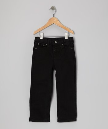 Black on Black Slim Straight-Leg Jeans - Toddler