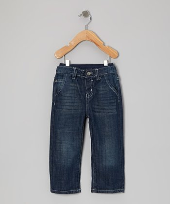 Dark Indigo Sand Sure2Fit Jeans - Infant & Toddler