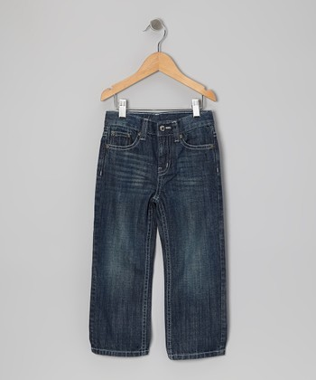 Dark Indigo Sand Slim Straight-Leg Jeans - Infant & Toddler