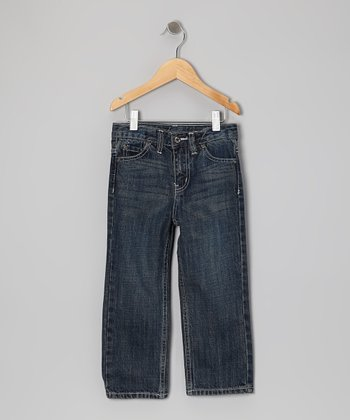 Dark Indigo Relaxed Straight-Leg Jeans - Infant & Toddler