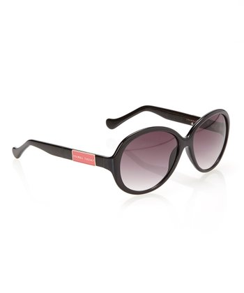 Black & Smoke Gradient Lens Round Sunglasses