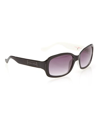 Black Rounded Rectangle Sunglasses