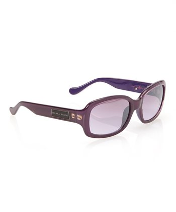Purple Rounded Rectangle Sunglasses