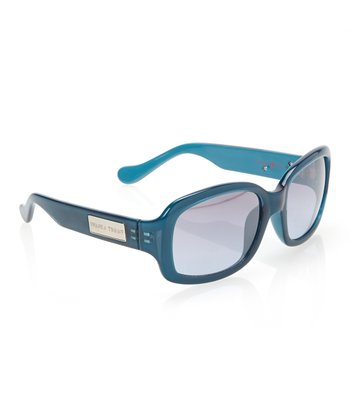 Teal Rounded Rectangle Sunglasses