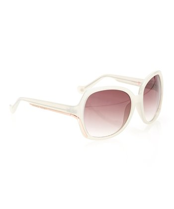 Ivory & Rose Smoke Gradient Lens Oversize Butterfly Sunglasses