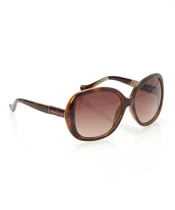 Tortoise & Chestnut Lens Rounded Butterfly Sunglasses