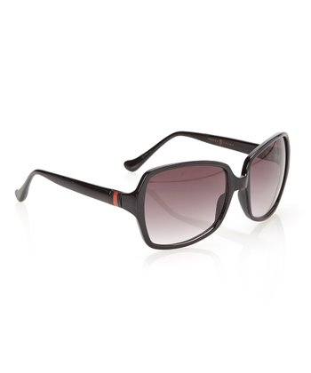 Black & Smoke Gradient Lens Squared Butterfly Sunglasses